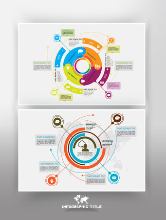 design template: Timeline Infographic, vector design template