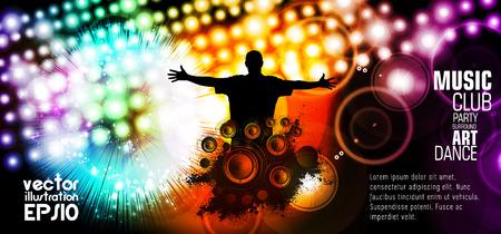 Disco party. Musique de fond pour l'événement affiche ou une bannière