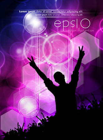 design studio: Disco party. Music event background for poster or banner