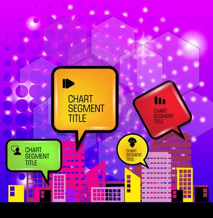 city background: Modern city background. Vector Illustration