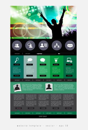 Website design template, vector Illustration