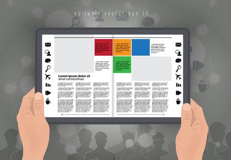 layout: E-magazine layout. Editable