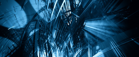 network connections: 3D technology abstract background