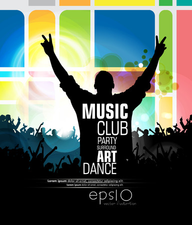 clubing: Music backgrounds ready for a poster Illustration