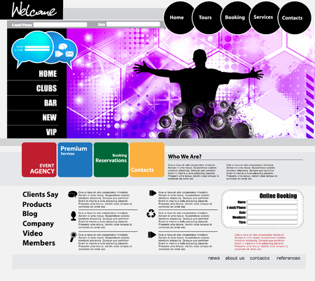 website: website template