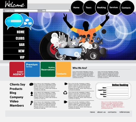 net bar: website template