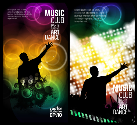 disco background: Disco background for a poster Illustration