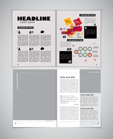 newspaper reading: Magazine layout