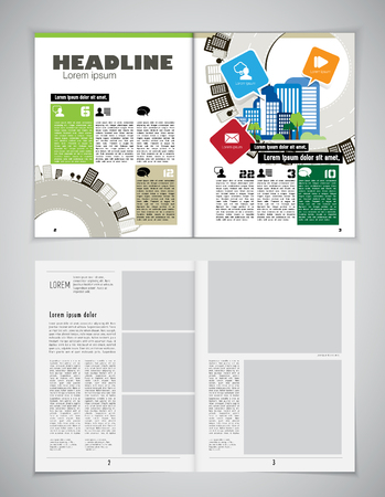 folded newspaper: Magazine layout