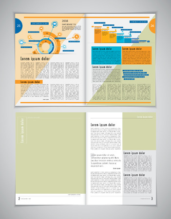 newspaper print: Brochure template for business Illustration