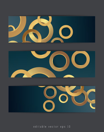 gilt: Set of three abstract banners