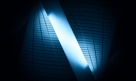 architecture abstract: 3D futuristic background