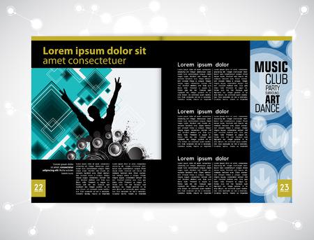 discoteque: Template music event magazine. Vector