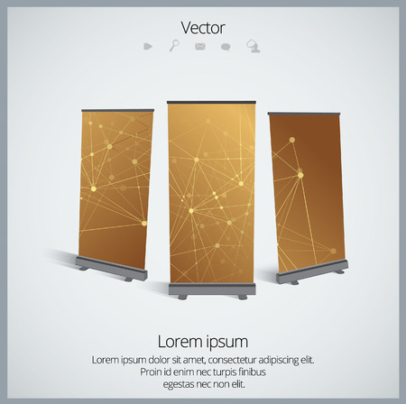 banner stand: Roll up banner stand design, vector