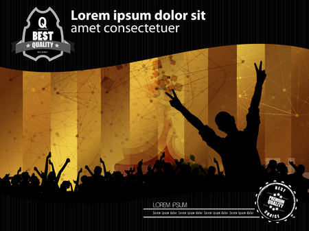 clubing: Music backgrounds for poster or banner Illustration