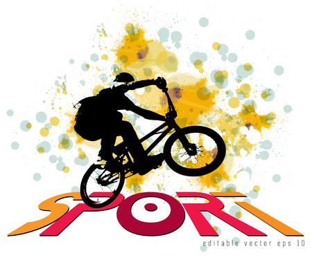 extreme sports: BMX rider. Vector design.