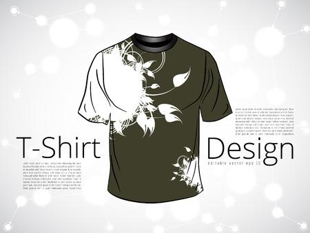 teen boy: T-shirt. Vector Illustration