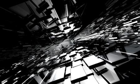 tiefe: 3D-Cyber ??futuristischen Hintergrund