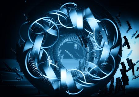 futuristic: 3d futuristic abstract background