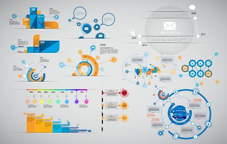 Vector de ilustración infografía