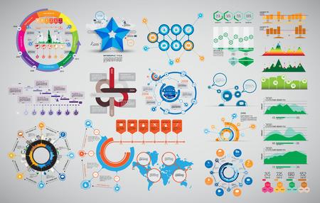 Vector of illustration infographic Vettoriali