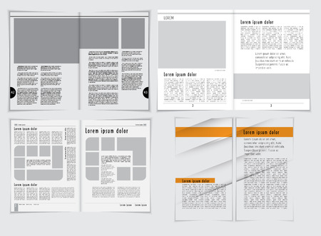 page layout: Magazine layout, vector
