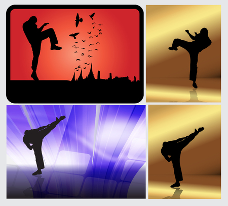 kwon: Sports. Karate illustration Illustration