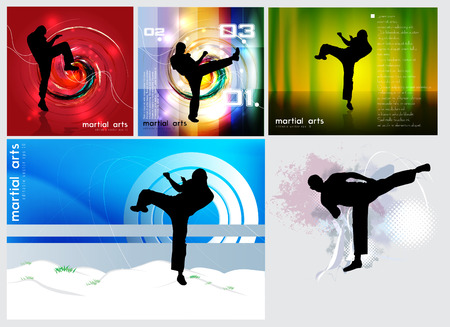 kwon: Sports. Karate illustration Illustration