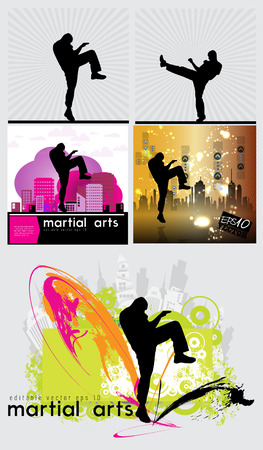 kwon: Karate illustration Illustration