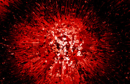 aura sun: Red explosion background Stock Photo