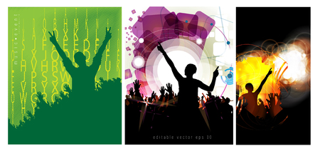 abstract bacground: Music event illustration