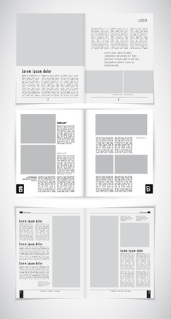 layout: Magazine layout, vector