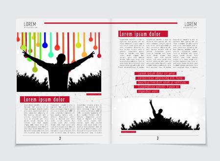 linkedin: Design template newspaper Illustration