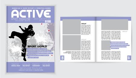 Cover active sports magazine, vector Stock Vector - 52818329