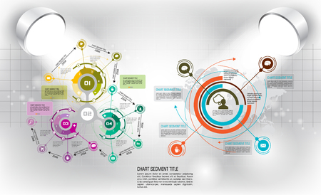 business analysis: Vector of illustration infographic Illustration