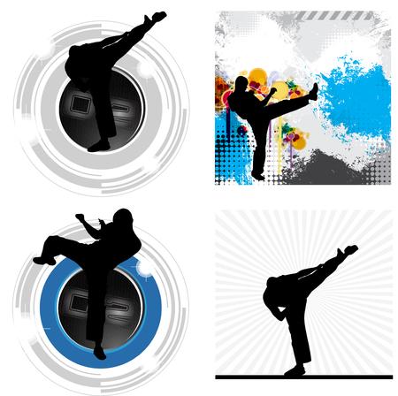kyokushin: Karate illustration Stock Photo