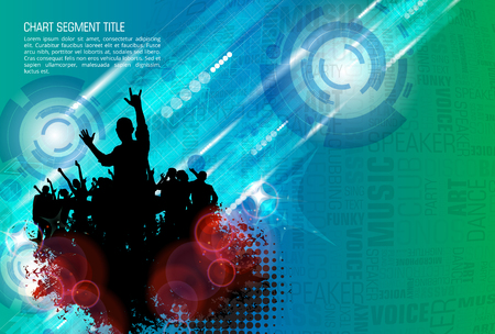 Music event illustration. Background for new year party poster vector