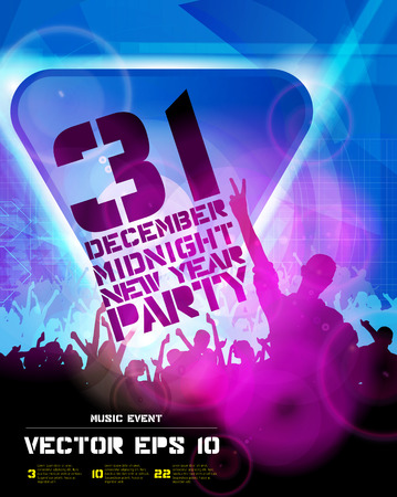 slovenly: Music event illustration. Background for new year party poster vector