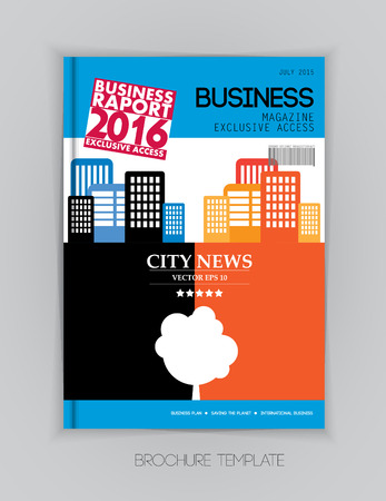magazine layout: Business magazine cover layout, vector