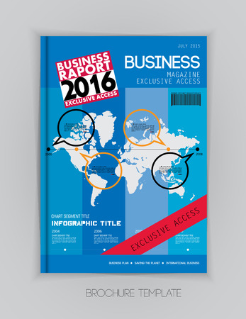 layout: Business magazine cover layout, vector