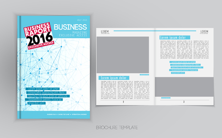 magazine layout: Business magazine layout, vector Illustration