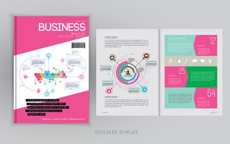 layout: Business magazine layout, vector Illustration