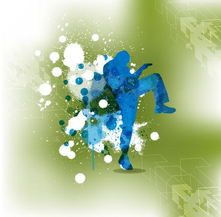 individual sports: Karate illustration Illustration