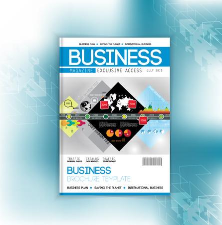 magazine design: Design layout for magazine or brochure Illustration