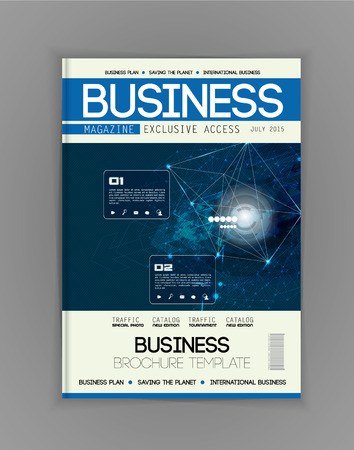 magazine: Business magazine cover, vector
