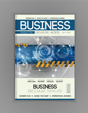 cover design: Business magazine cover, vector