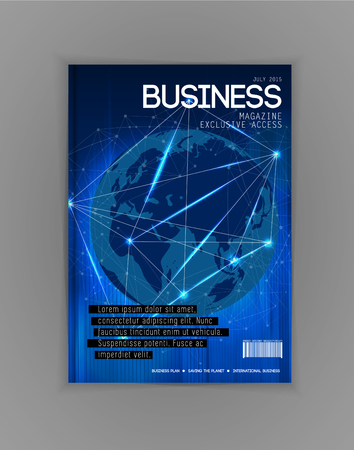 notebook design: Business magazine cover, vector