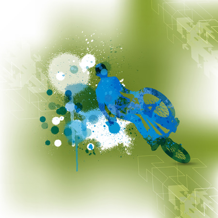 bmx: BMX cyclist, abstract illustartion