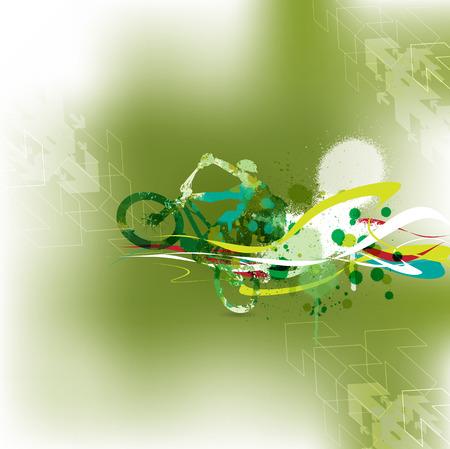 illustartion: BMX cyclist, abstract illustartion