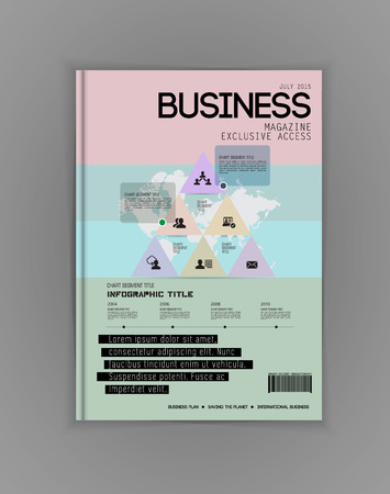 ebook cover: Business magazine cover, vector